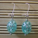 aqua egg dangle earrings