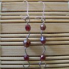 maroon shapley dangle earrings