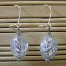 silver egg dangle earrings