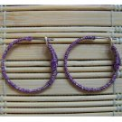purple wrapped hoop earrings