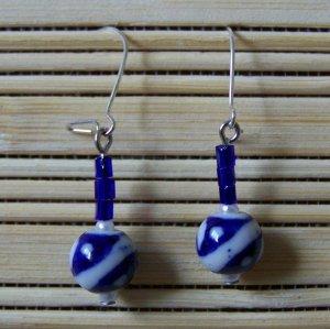 royal blue china simple dangle earrings