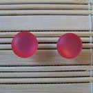 frosty pink stud earrings