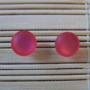 frosty pink stud earrings