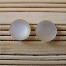 frosty ivory stud earrings