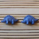 blue stegosaurus stud earrings