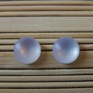 frosty white stud earrings