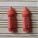 orange crayon stud earrings