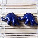 navy stegosaurs stud earrings