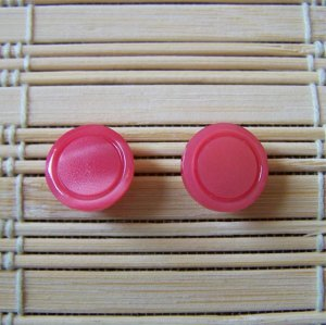 bright pink circle stud earrings