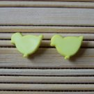 yellow duckling stud earrings