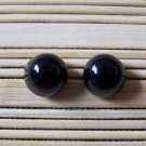 black bubble stud earrings