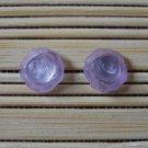 little lilac rosebuds stud earrings