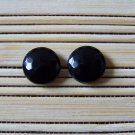 black faceted stud earrings