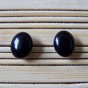black jelly bean stud earrings