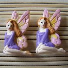 lilac fairy stud earrings