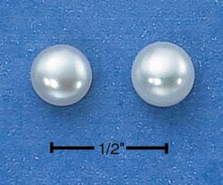 STERLING SILVER- WHITE FRESH WATER PEARL EARRINGS