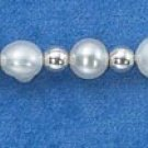 STERLING SILVER FRESH WATER PEARL BRACELET W/ SILVER SPACERS