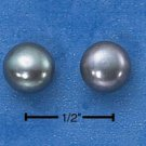 STERLING SILVER- GRAY FRESH WATER PEARL EARRINGS