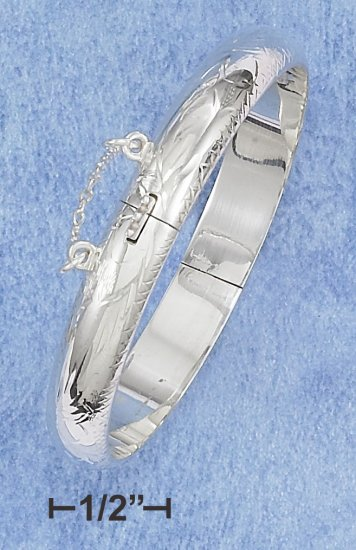 STERLING SILVER- BABY'S ETCHED BANGLE BRACELET