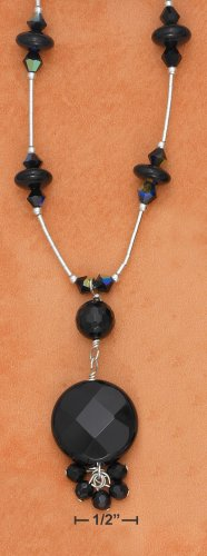 STERLING SILVER- ONYX NECKLACE