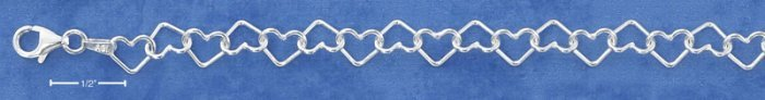 STERLING SILVER- OPEN HEART BRACELET **FREE SHIPPING ITEM**