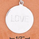 "STERLING SILVER- ""LOVE"" CHARM **FREE SHIPPING ITEM**"