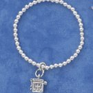 STERLING SILVER CHILDRENS  STRETCH BRACELET WITH PRAYER BOX DANGLE **FREE SHIPPING ITEM**