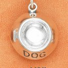 "STERLING SILVER 3D ""DOG"" BOWL CHARM   **FREE SHIPPING**"