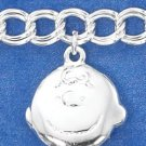 "STERLING SILVER ""PEANUTS"" CHARACTER CHARM BRACELET  **FREE SHIPPING**"