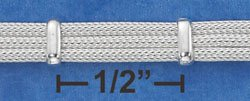 """STERLING SILVER 7"""" ITALIAN 3 STRAND BANDED FOXTAIL BRACELET  **FREE SHIPPING**"""