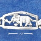 STERLING SILVER ANTIQUED ELEPHANT LINK BRACELET  **FREE SHIPPING**