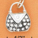 STERLING SILVER 3D PAVE CRYSTAL OPENING PURSE CHARM