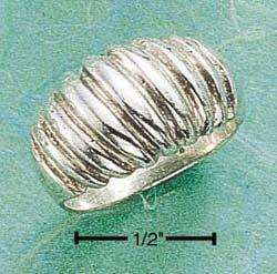 STERLING SILVER LARGE SHRIMP RING