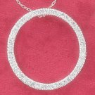 "STERLING SILVER 16"" CONTINUOUS CZ OPEN CIRCLE NECKLACE"