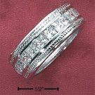 STERLING SILVER CHANNET SET BAND **FREE SHIPPING**