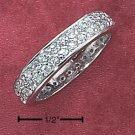STERLING SILVER CZ PAVE ETERNITY BAND