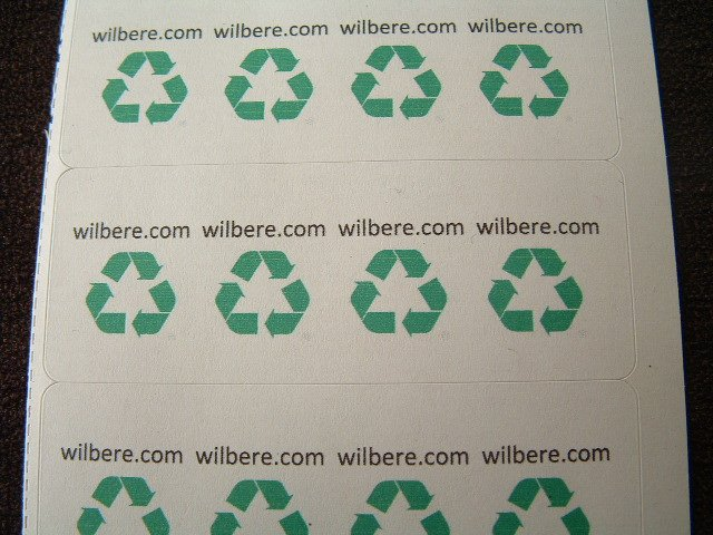 360 Recycle Symbol Labels Stickers with Your Name or Text