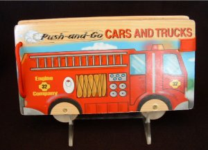 Melissa & Doug Push and Go Cars and Trucks Firetruck Wooden Book