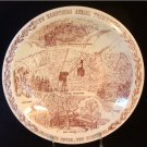 Vernon Kilns NH New Hampshire State Plate Franconia Notch Maroon Transferware