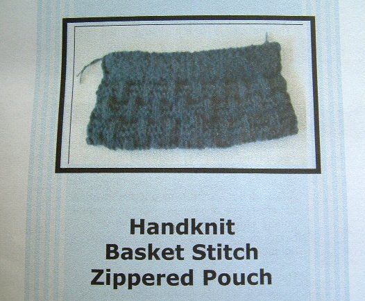 Knitting Pattern Handknit Basket Stitch Zippered Pouch Lined