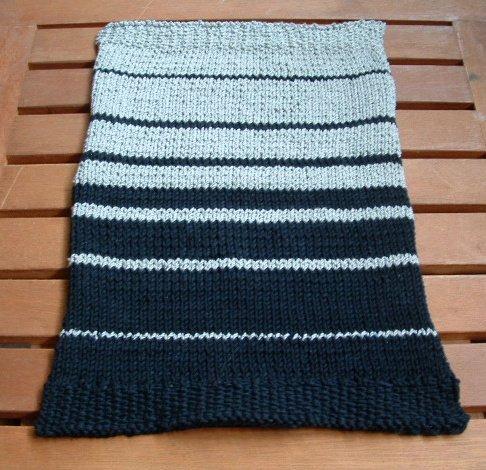 Fibonacci Sequence Design Ultimate Dash Cloth Handknit Black Gray 10x14 Inches