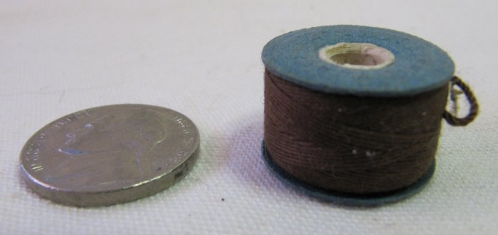 5 Prewound Cotton Thread Bobbins All Brown Size A 30 Yd Each
