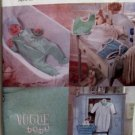 VOGUE 7002 Infant Baby Pattern PJs Romper and More Uncut