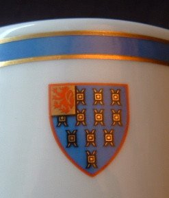 2 Rare ROYAL DOULTON China Coffee Cups Scotland Scottish Coat of Arms Mint
