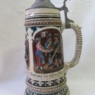 Antique Albert Jacob Thewalt German 1L Lidded Beer Stein c 1900 Marked 221