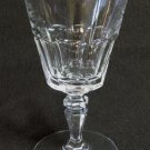 Mint VAL ST LAMBERT VSL Crystal Claret Wine Glass Faradet Arched Panels Multiside Stem