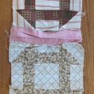 Four Joined Antique Handmade Quilt Blocks 1920s Patchwork