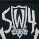WESTTOWN 1954 Vintage College Pennant Black White Letters