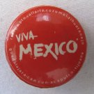 Vintage VIVA MEXICO Souvenir Pinback Button 1.5 In Red City Names