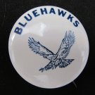 Vintage Early U-High University High Bluehawks Pinback Button 1.75 In Iowa